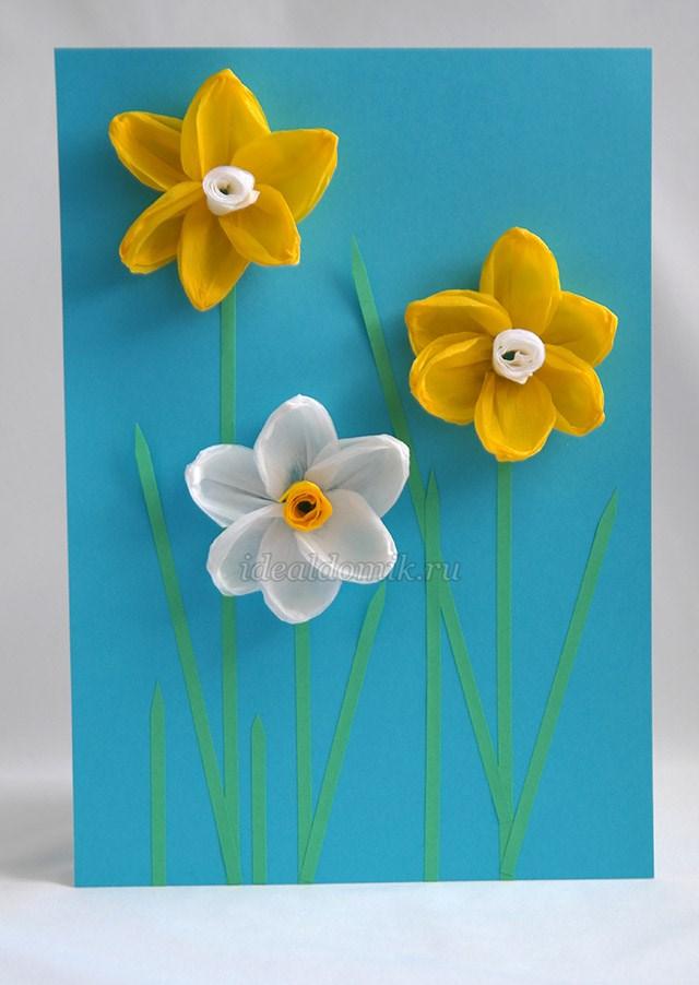 d1efca308380 Аппликация своими руками на тему: Весна из бумаги для детей. Мастер ...