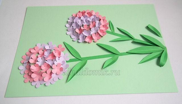 Делаем цветы из бумаги своими руками как