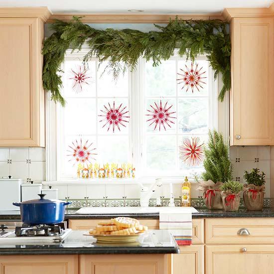 Украшаем кухню к новому году своими руками фото