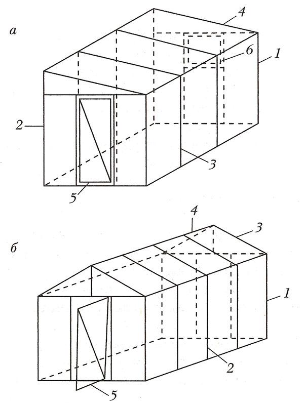 конструкций теплиц (схемы)