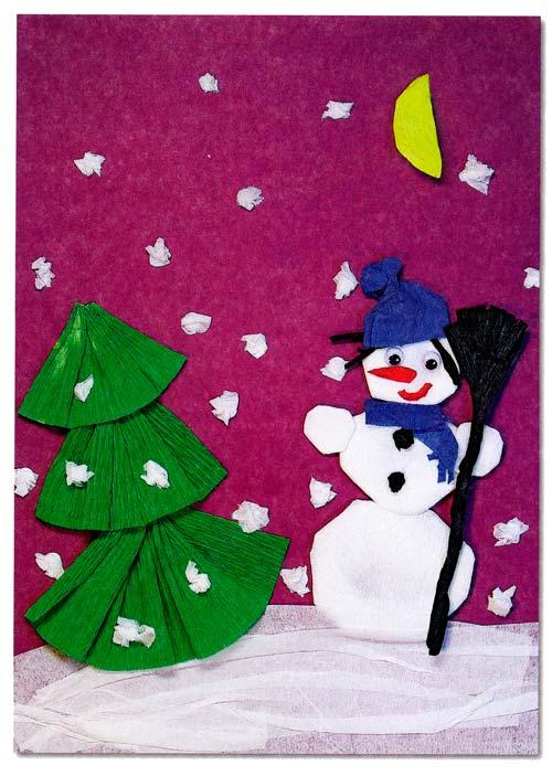 Поделки из белой бумаги на новый год
