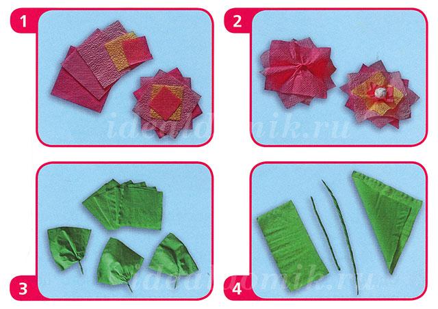 Как сделать из бумажных салфеток своими руками
