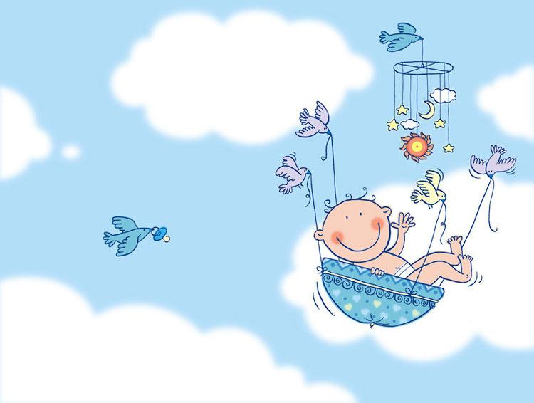 Рисунок поздравления с новорожденным 59