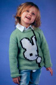 Пуловер на спицах для девочки 3-4 лет с описанием