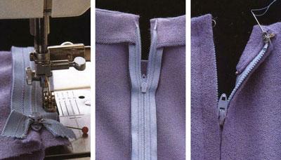 Как пришить потайную молнию к юбке с обтачкой