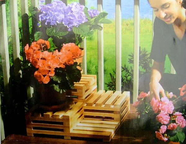 Подставка в саду своими руками фото