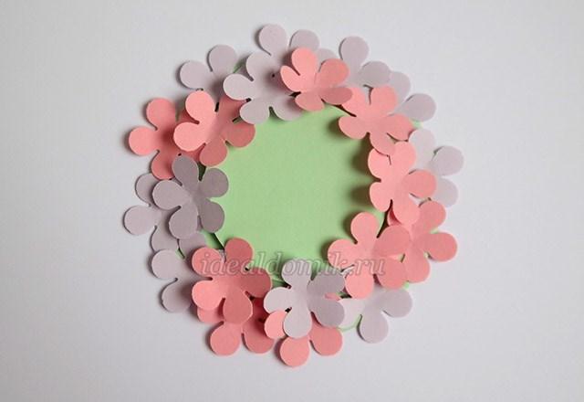 Флоксы из цветной бумаги для детей своими руками